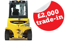 *When you trade-in a counterbalance forklift truck for a refurbished Jungheinrich counterbalance we will give you £2,000 minimum trade-in for any truck under 15 years old.